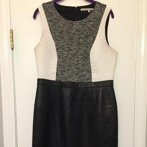 Rachel Roy Faux Leather Pencil Dress - Size 14